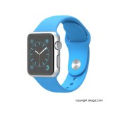 APPLE Watch Sport 38mm Silver Aluminum Case with Blue Sport Band