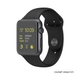 APPLE Watch Sport 42mm Space Gray Aluminum Case with Black Sport Band