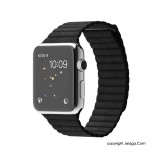 APPLE Watch 42mm Stainless Steel Case with Black Leather Loop