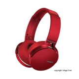 SONY Extra Bass Bluetooth Headphones MDR-XB950BT Red